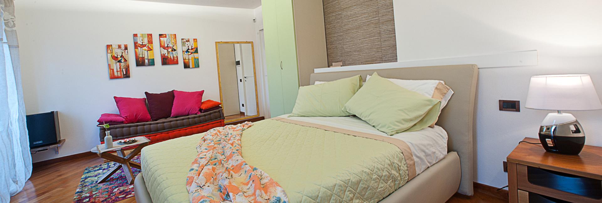 Camera Verde ampia e spaziosa - Beb la Tosca Marina di Massa